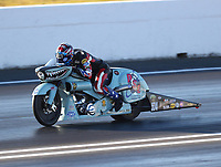 Jun 9, 2017; Englishtown , NJ, USA; NHRA pro stock motorcycle rider Cory Reed during qualifying for the Summernationals at Old Bridge Township Raceway Park. Mandatory Credit: Mark J. Rebilas-USA TODAY Sports