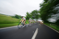 Steve Chainel (FRA) leading the race<br /> <br /> 2013 Skoda Tour de Luxembourg<br /> stage 1: Luxembourg - Hautcharage (184km)