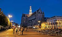 Nederland Haarlem 2019 . De Grote Markt in Haarlem. De Grote of Sint-Bavokerk is de grootste kerk in Haarlem, gelegen aan de Grote Markt. De kerk is gewijd aan Sint Bavo. Foto Berlinda van Dam / Hollandse Hoogte