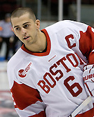 Senior Joe Pereira (BU - 6), one of BU's new captains. - The Boston University Terriers defeated the visiting University of Toronto Varsity Blues 9-3 on Saturday, October 2, 2010, at Agganis Arena in Boston, MA.