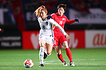 (L-R) <br /> Cho Sohyun (KOR), <br /> Ri Hyang Sim (PRK), <br /> DECEMBER 11, 2017 - Football / Soccer : <br /> EAFF E-1 Football Championship 2017 Women's Final match <br /> between North Korea 1-0 South Korea <br /> at Fukuda Denshi Arena in Chiba, Japan. <br /> (Photo by Naoki Nishimura/AFLO)