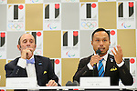 (L to R) <br /> Fernando Aguerre, <br /> Masatoshi Ono, <br /> AUGUST 7, 2015 : <br /> International Surfing Association (ISA) <br /> holds a media conference following its interview <br /> with the Tokyo 2020 Organising Committee in Tokyo Japan. <br /> (Photo by YUTAKA/AFLO SPORT)