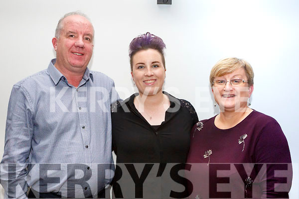 Eddie Murphy, Sinead Murphy, Marie Murphy at the IMRO Christie Hennessy Song Competition Live Final at the Ashe Hotel on Saturday