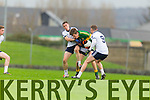 Colin McGillicuddy Kerry in action against George Bastible IT Tralee in the McGrath cup at Austin Stack Park on Sunday.