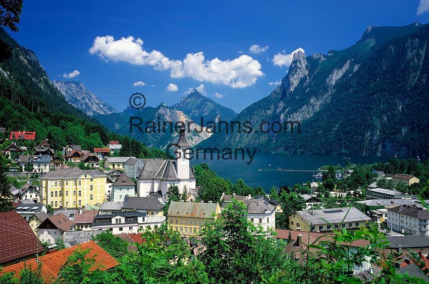AUT, Oesterreich, Oberoesterreich, Salzkammergut, Ebensee am Traunsee: Marktgemeinde im Bezirk Gmunden  | AUT, Austria, Upper Austria, Salzkammergut, Ebensee at Lake Traun :
