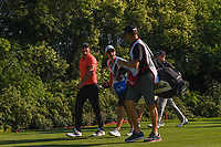 Brooks Koepka (USA) shares a laugh with the caddies as he heads down 12 during round 2 of the Fort Worth Invitational, The Colonial, at Fort Worth, Texas, USA. 5/25/2018.<br /> Picture: Golffile | Ken Murray<br /> <br /> All photo usage must carry mandatory copyright credit (&copy; Golffile | Ken Murray)
