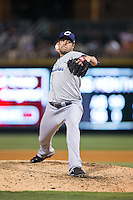 Columbus Clippers relief pitcher Anthony Swarzak (40) in action against the Charlotte Knights at BB&T BallPark on May 27, 2015 in Charlotte, North Carolina.  The Clippers defeated the Knights 9-3.  (Brian Westerholt/Four Seam Images)