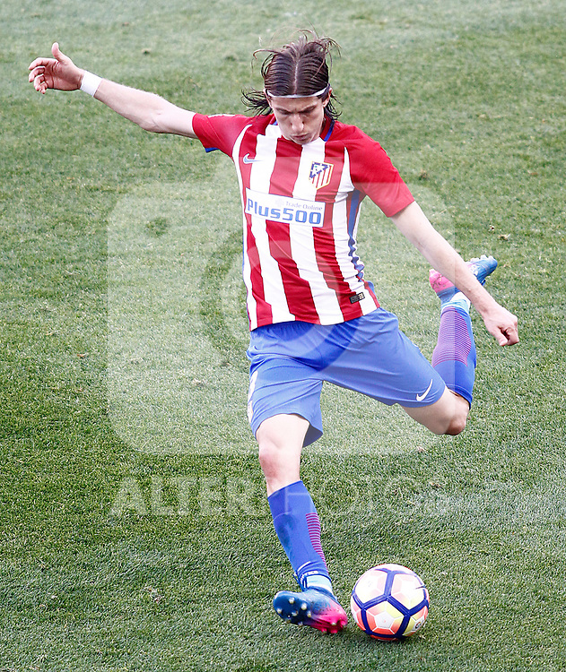 Atletico de Madrid's Filipe Luis during La Liga match. March 19,2017. (ALTERPHOTOS/Acero)