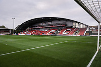 Fleetwood Town's Parkside Stand during the The Leasing.com Trophy match between Fleetwood Town and Liverpool U21 at Highbury Stadium, Fleetwood, England on 25 September 2019. Photo by Stephen Buckley / PRiME Media Images.