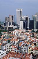 Asie/Singapour/Singapour: Chinatown - Vue de la ville et ses buildings
