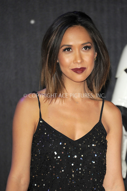 WWW.ACEPIXS.COM<br /> <br /> December 16 2015, London<br /> <br /> Myleene Klass arriving at the European Premiere of 'Star Wars: The Force Awakens' in Leicester Square on December 16, 2015 in London, England.<br /> <br /> By Line: Famous/ACE Pictures<br /> <br /> <br /> ACE Pictures, Inc.<br /> tel: 646 769 0430<br /> Email: info@acepixs.com<br /> www.acepixs.com