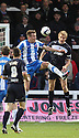 Charlie Wyke of Hartlepool and Mark Roberts of Stevenage contest a header. Hartlepool United v Stevenage - npower League 1 -  Victoria Park, Hartlepool - 8th December, 2012. © Kevin Coleman 2012.