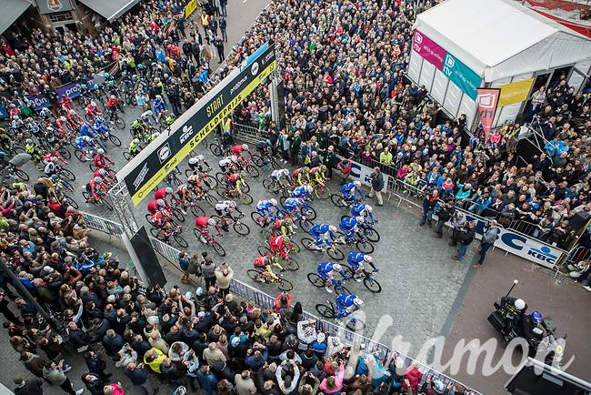 race start<br /> <br /> 105th Scheldeprijs 2017 (1.HC)<br /> 1day race: Mol &gt; Schoten 200km