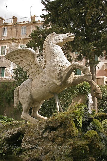 Statue of Pegasus, Tivoli Gardens, Villa D'Este, Italy