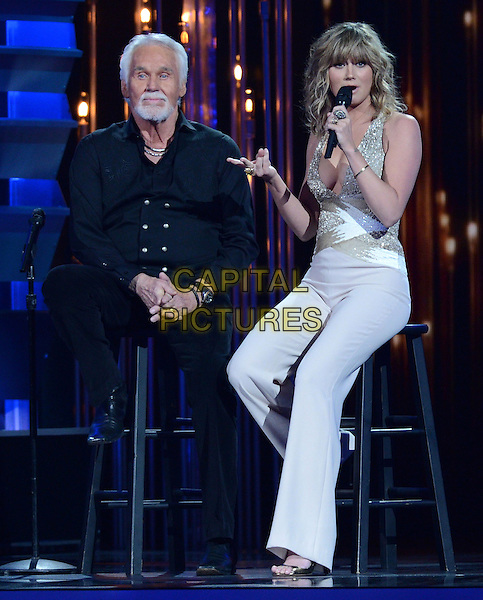 NASHVILLE, TENNESSE - NOVEMBER 06: Kenny Rogers, Jennifer Nettles of Sugarland at the 47th CMA Awards, Country Music's Biggest Night, held at Bridgestone Arena on November 6th, 2013 in Nashville, Tennessee, USA.<br /> CAP/ADM/LF<br /> &copy;Laura Farr/AdMedia/Capital Pictures