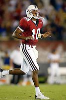 Chris Lewis throws a touchdown to Alex Smith during Stanford's 63-26 win over San Jose State on September 14, 2002 at Stanford Stadium.<br />Photo credit mandatory: Gonzalesphoto.com