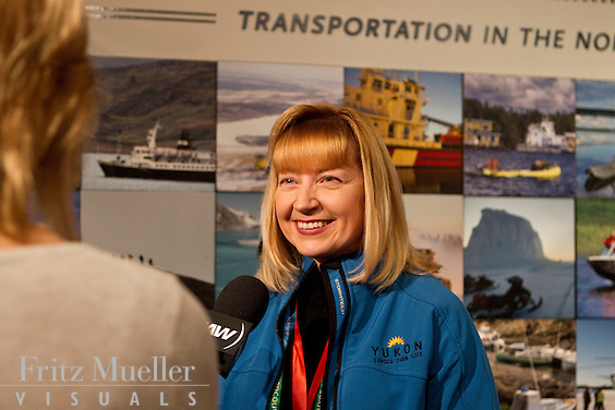 Yukon Minister Elaine Taylor on Yukon Day at Canada's Northern House at the 2010 Olympics