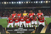 BOGOTA -COLOMBIA, 4-03-2017 Team of Independiente Santa Fe of Colombia. Action game between Independiente Santa Fe of Colombia and Sporting Cristal of Peru during match for the date 2   for the Conmebol Libertadores Bridgestone Cup 2017 played at Nemesio Camacho El Campin stadium . Photo:VizzorImage / Felipe Caicedo  / Staff