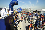 The start of Stage 1 The Nakheel Stage of the Dubai Tour 2018 the Dubai Tour&rsquo;s 5th edition, running 167km from Skydive Dubai to Palm Jumeirah, Dubai, United Arab Emirates. 6th February 2018.<br /> Picture: LaPresse/Massimo Paolone | Cyclefile<br /> <br /> <br /> All photos usage must carry mandatory copyright credit (&copy; Cyclefile | LaPresse/Massimo Paolone)