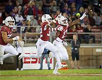 Stanford, CA - October 5, 2019: Kyu Blu Kelly, Jonathan McGill at Stanford Stadium. The Stanford Cardinal beat the University of Washington Huskies 23-13.