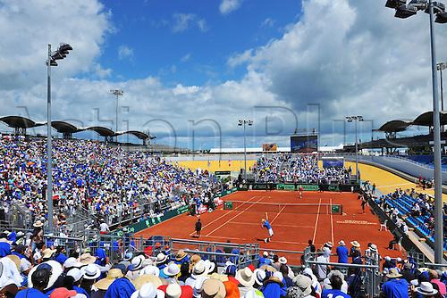 06.03.2016. Vélodrome Amédée Detraux, Guadeloupe, France. Davis Cup 1st round. France versus Canada.  The purpose built stadium