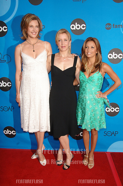 Desperate Housewives stars BRENDA STRONG (left), FELICITY HUFFMAN & EVA LONGORIA at the Disney ABC TV All Star Party at Kidspace in Pasadena..July 19, 2006  Pasadena, CA.© 2006 Paul Smith / Featureflash