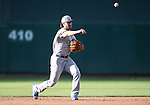 Oklahoma City Dodgers&rsquo; Charlie Culberson makes a play at Greater Nevada Field in Reno, Nev., on Sunday, July 17, 2016.<br />Photo by Cathleen Allison