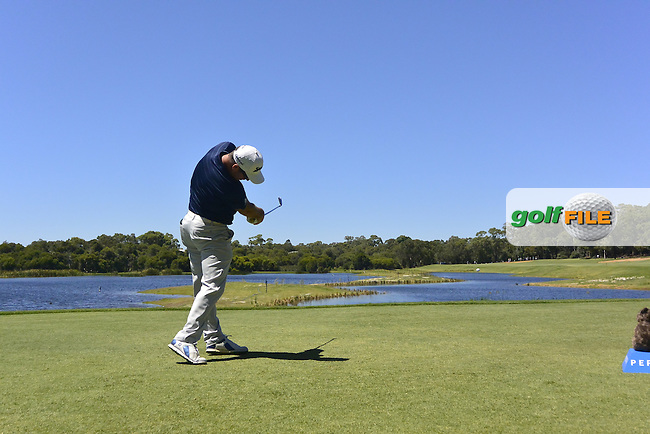 Ryan Fox (NZL) on the 3rd tee during Round 3 of the ISPS Handa World Super 6 Perth on Saturday 18th February 2017.<br /> Picture:  Thos Caffrey / Golffile<br /> <br /> All photo usage must carry mandatory copyright credit     (&copy; Golffile | Thos Caffrey)