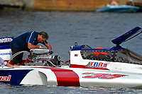 "Al Grabinski at work. Mike Monahan, GP-35 ""TM Special""  (Grand Prix Hydroplane(s)"