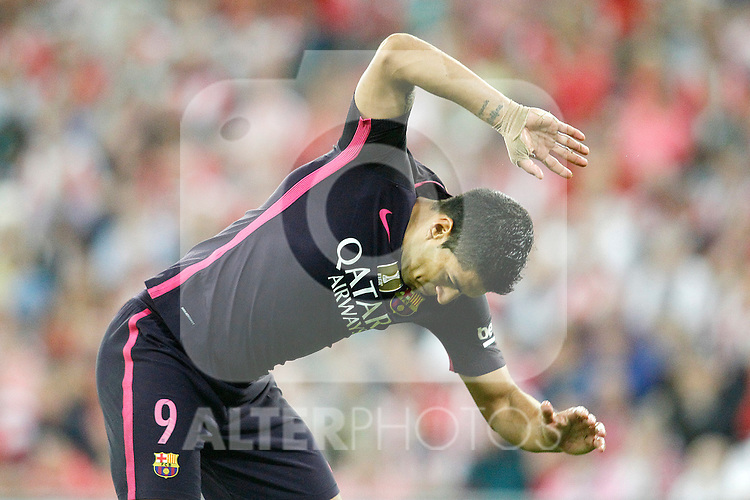 FC Barcelona's Luis Suarez during La Liga match. August 28,2016. (ALTERPHOTOS/Acero)