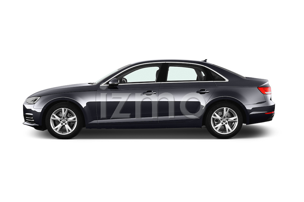 Car Driver side profile view of a 2017 Audi A4 Sport 4 Door Sedan Side View
