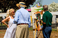 GEORGETOWN, KENTUCKY, MAY 06: Artist Robert Clark at the14th Annual Fundraiser at Old Friends Farm on May 6, 2018 in Georetown, Kentucky. (Photo by Sue Kawczynski/Eclipse Sportswire/Getty Images)