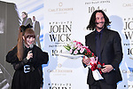 """(L-R) Kyary Pamyu Pamyu and Keanu Reeves attend the Japan premiere of """"John Wick: Chapter 3 - Parabellum"""" on September 10 in Tokyo, Japan."""