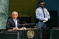 Guatemalan President Otto Pérez addresses diplomats during the 67th United Nations General Assembly at the U.N. Headquarters in New York , United States. 09/24/2012. Photo by Kena Betancur/VIEWpress.