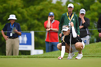 Jessica Korda (USA) lines up her putt on 2 during round 4 of the KPMG Women's PGA Championship, Hazeltine National, Chaska, Minnesota, USA. 6/23/2019.<br /> Picture: Golffile | Ken Murray<br /> <br /> <br /> All photo usage must carry mandatory copyright credit (© Golffile | Ken Murray)