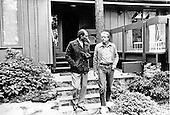 President Anwar Sadat of Egypt, left, and United States President Jimmy Carter, right, leave Dogwood Lodge for a walk on the grounds of Camp David, the presidential retreat near Thurmont, Maryland Monday, September 13, 1978..Credit: White House via CNP