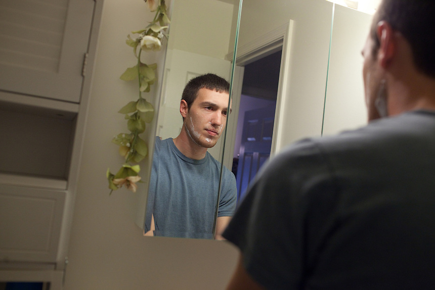 Jeremy Roop gets ready for church at the apartment where he lives with his wife, Kia, in Westminster, Maryland on May 5, 2013. Jeremy and Kia are expecting their first born, Judah Zion Roop, who was conceived through In Vitro Fertilization (IVF) at Shady Grove Fertilization Center in Rockville, Maryland. CREDIT: Lance Rosenfield/Prime