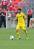 July 20, 2013: Columbus Crew midfielder Matias Sanchez #8 in action during a game between Toronto FC and the Columbus Crew at BMO Field in Toronto, Ontario Canada.<br /> Toronto FC won 2-1.