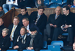 Charles Green in the directors box looking at Ally McCoist ahead of him