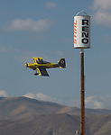 Paul Newman in (26) Fast and Easy competes in a Foormula One heat race during the National Championship Air Races in Reno, Nevada on Friday, September 15, 2017.