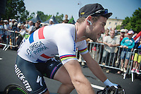 Mark Cavendish (GBR) going to the start<br /> <br /> Tour de France 2013<br /> stage 12: Fougères - Tours 218km