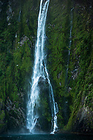 Stirling Falls in Milford Sound, Fiordland National Park, Southland, UNESCO World Heritage Area, New Zealand, NZ