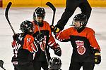 03.01.2020, BLZ Arena, Füssen / Fuessen, GER, IIHF Ice Hockey U18 Women's World Championship DIV I Group A, <br /> Frankreich (FRA) vs Japan (JPN), <br /> im Bild Torjubel nach 3:0, Shizuku Omiya (JPN, #10), Minami Kamada (JPN, #15), Azuki Ushio (JPN, #24)<br /> <br /> <br /> Foto © nordphoto / Hafner