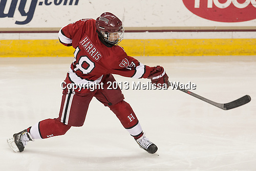 Abigail Harris (Harvard - 18) - The Boston College Eagles defeated the visiting Harvard University Crimson 3-1 in their NCAA quarterfinal matchup on Saturday, March 16, 2013, at Kelley Rink in Conte Forum in Chestnut Hill, Massachusetts.