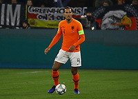 Virgil Van Dijk (Niederlande) - 19.11.2018: Deutschland vs. Niederlande, 6. Spieltag UEFA Nations League Gruppe A, DISCLAIMER: DFB regulations prohibit any use of photographs as image sequences and/or quasi-video.