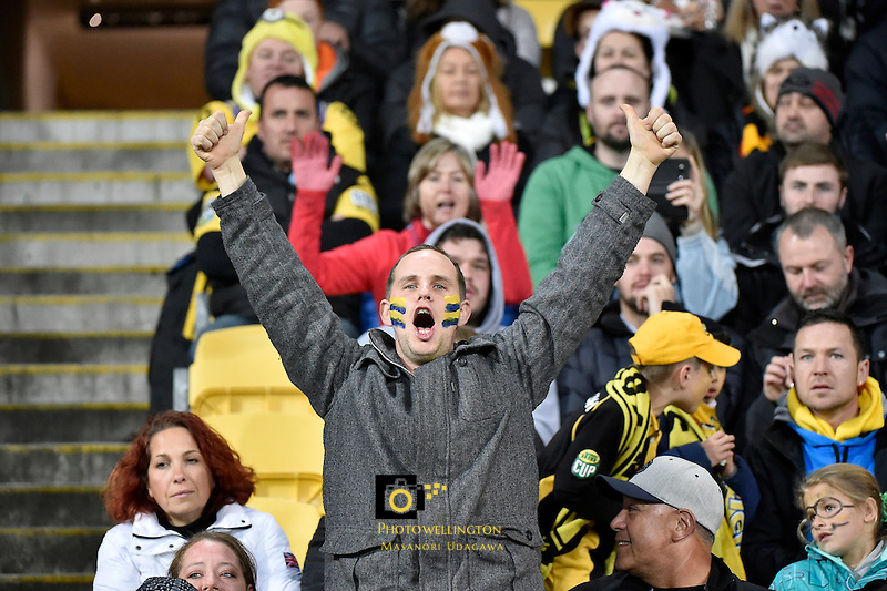 Highlanders fan during the Super Rugby Final - Hurricanes v Highlanders at Westpac Stadium, Wellington, New Zealand on Saturday 4 July 2015.<br /> Photo by Masanori Udagawa. <br /> www.photowellington.photoshelter.com.