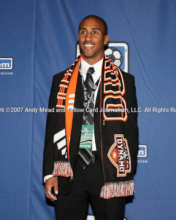 12 January 2007: Corey Ashe was taken by the Houston Dynamo with the final pick of the second round (26th overall). The 2007 MLS SuperDraft was held in the Indianapolis Convention Center in Indianapolis, Indiana during the National Soccer Coaches Association of America's annual convention.
