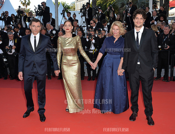 Director Nicole Garcia &amp; actors Alex Brendemuhl, Marion Cotillard &amp; Louis Garrel at the gala premiere of &quot;From the Land of the Moon&quot; (&quot;Mal de Pierres&quot;) at the 69th Festival de Cannes.<br /> May 15, 2016  Cannes, France<br /> Picture: Paul Smith / Featureflash