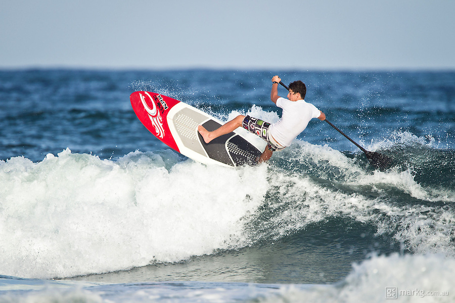 The last leg of the 2010 PKRA World Kiteboarding Tour has come to the Gold Coast, Australia - No wind, but a few small waves for surfing & sup. Keahi rips on the sup just as much as he does kitesurfing.