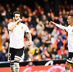 Valencia's  Alvaro Negredo and Rodrigo during Spanish King's Cup match. January 6, 2016. (ALTERPHOTOS/Javier Comos)